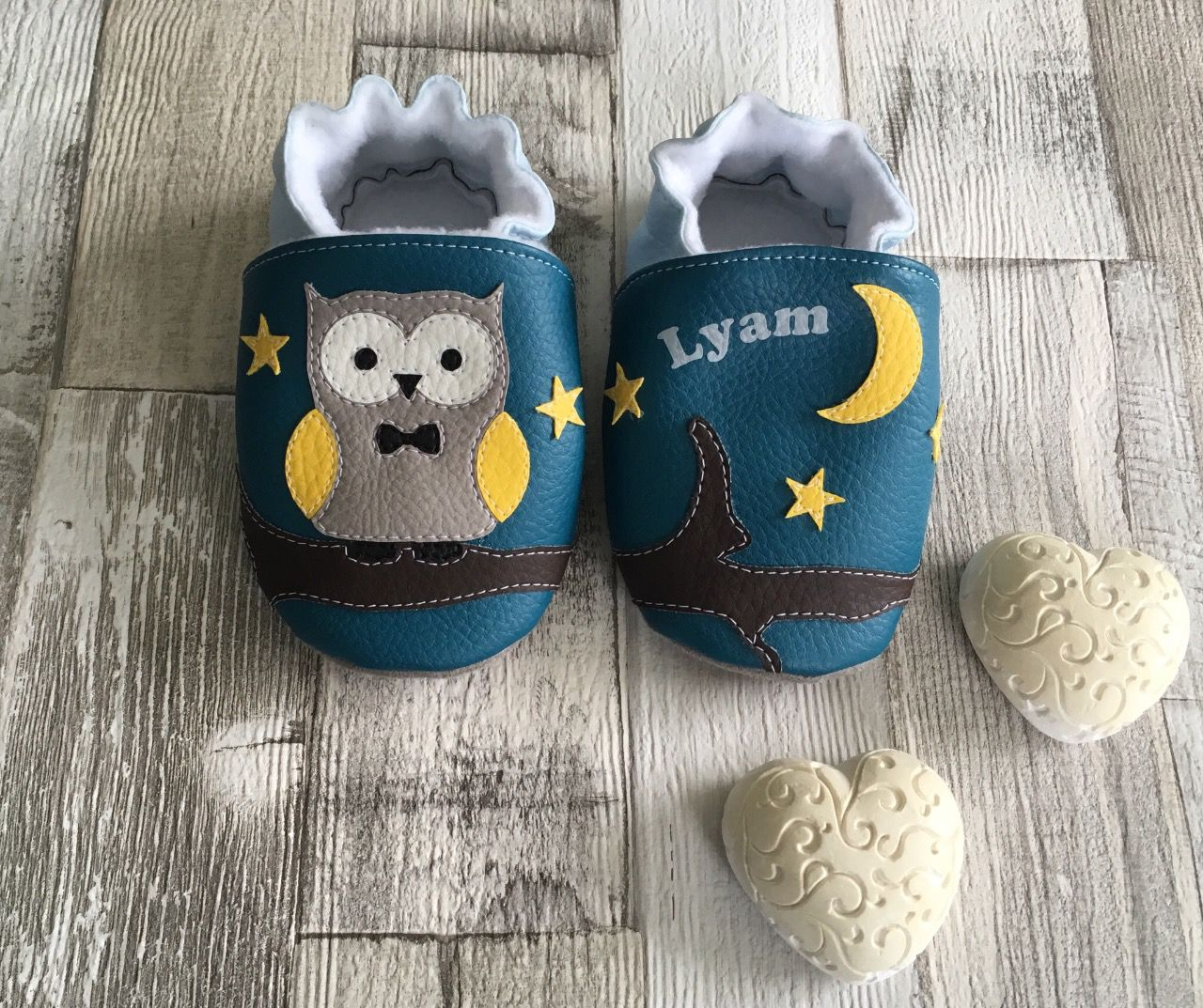 "Chaussons ""Monsieur hibou"""