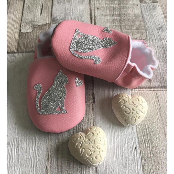 Chaussons Chat et Coeur