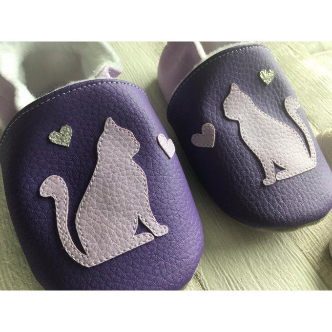 Chaussons Chat et Coeurs