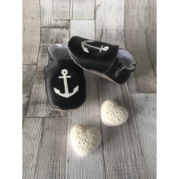Chaussons 'ancre marine'