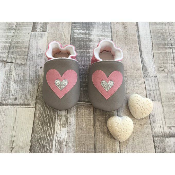 "Chaussons ""Double Coeur"""