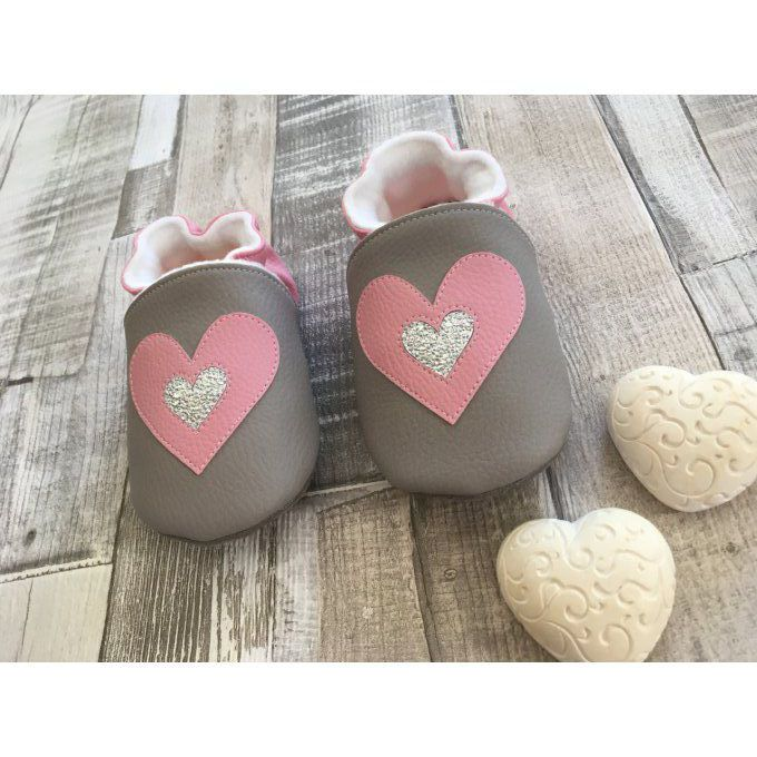 Chaussons 'Double Coeur'